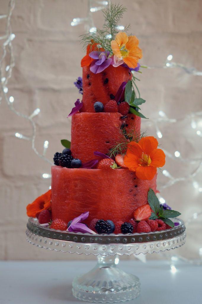 No Bake Watermelon Cake Good Recipes Watermelon Cake