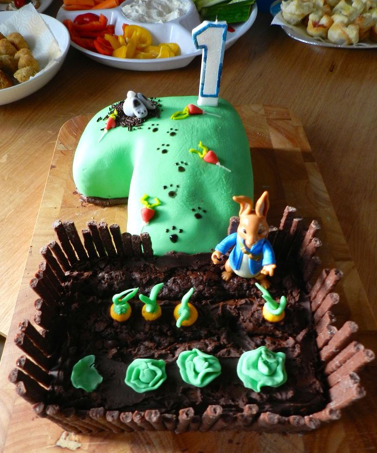 Peter Rabbit first birthday cake.