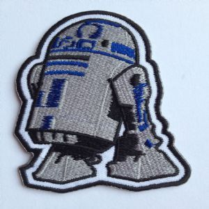 R2D2 Embroidered Iron on Patch / Star Wars Droid by Patchplanet, $7.99