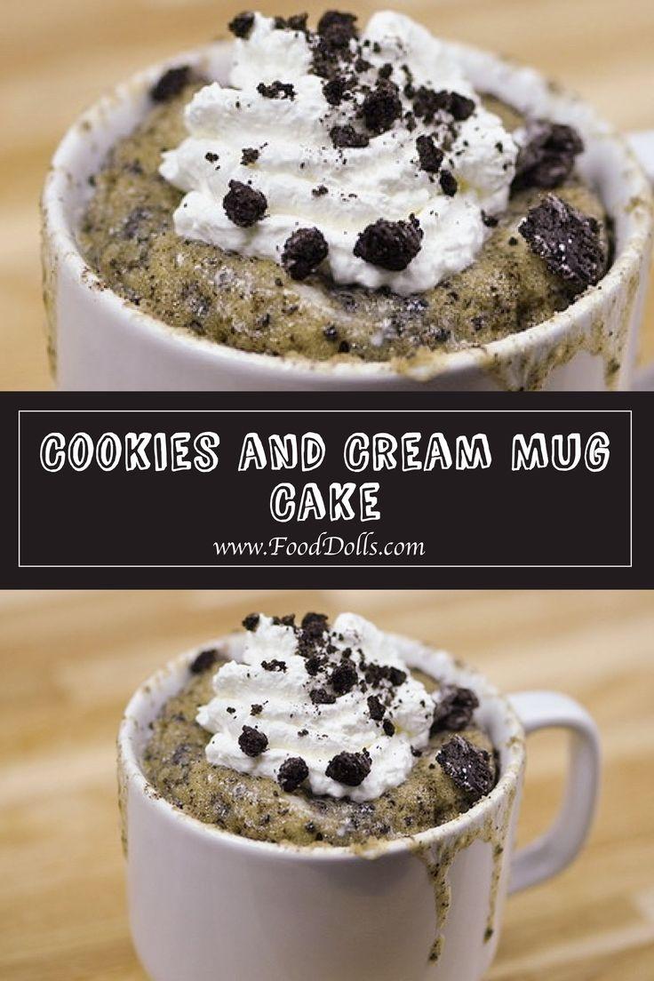 Cookies and cream mug cake food dolls recipe savoury