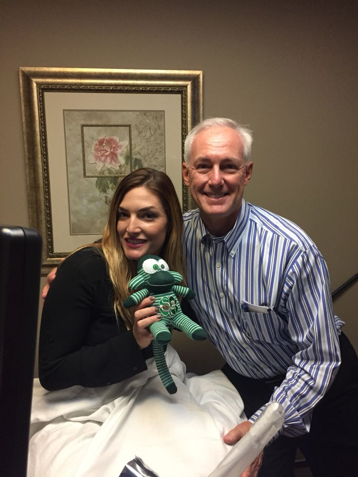 Our surrogate Cassandra with Dr. Hummel at San Diego Fertility Center