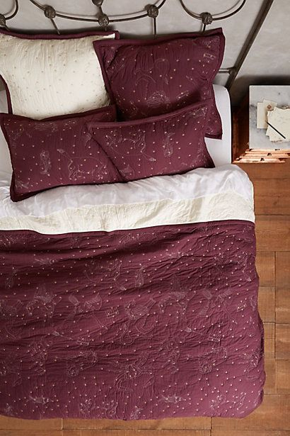 Cosmos Coverlet - but in blue anthropologie