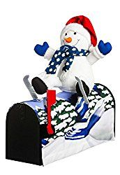 18.5″ Snowman Skiing Magnetic Mailbox Cover