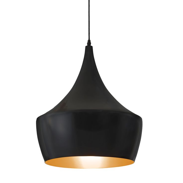 Shop Zuo Modern Copper 15.7-in W Matte Black Hardwired Standard Pendant Light with Metal Shade at Lowes.com