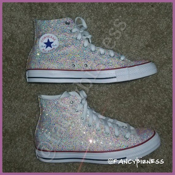 Blinged out Converse | Etsy | Converse