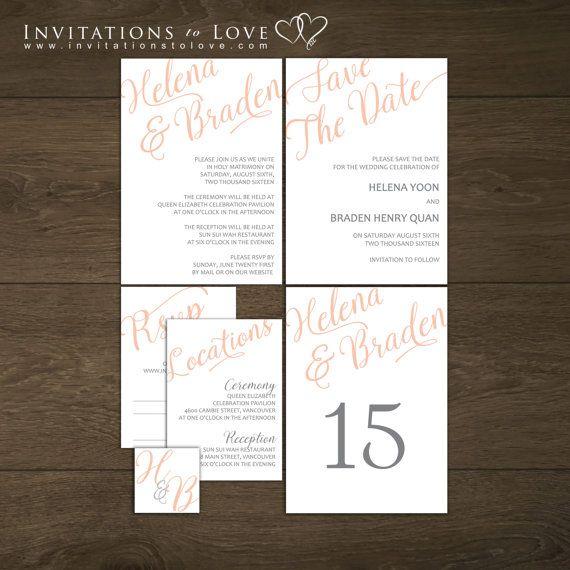 Printable Wedding Stationary  Custom Digital by InvitationsToLove