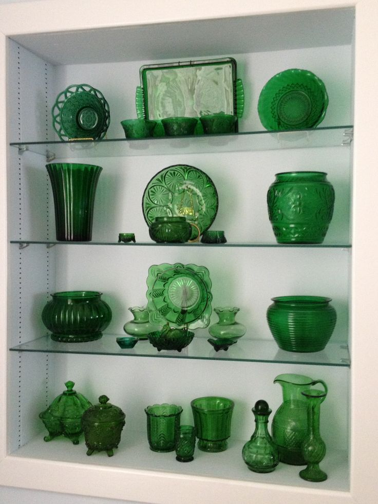 My favorite vintage emerald green glass