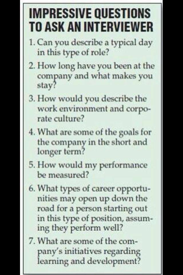 If You Can T Come Up With Questions Want To Ask The Employer