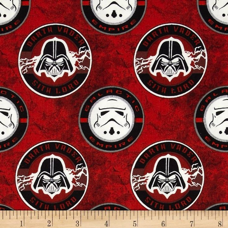 Star Wars The Dark Side Glow in the Dark Sith Lord Multi from @fabricdotcom  By Lucasfilm Ltd. & TM for Camelot Cottons, this cotton print fabric features glow in the dark images, and is perfect for quilting, craft projects, apparel and home décor accents.