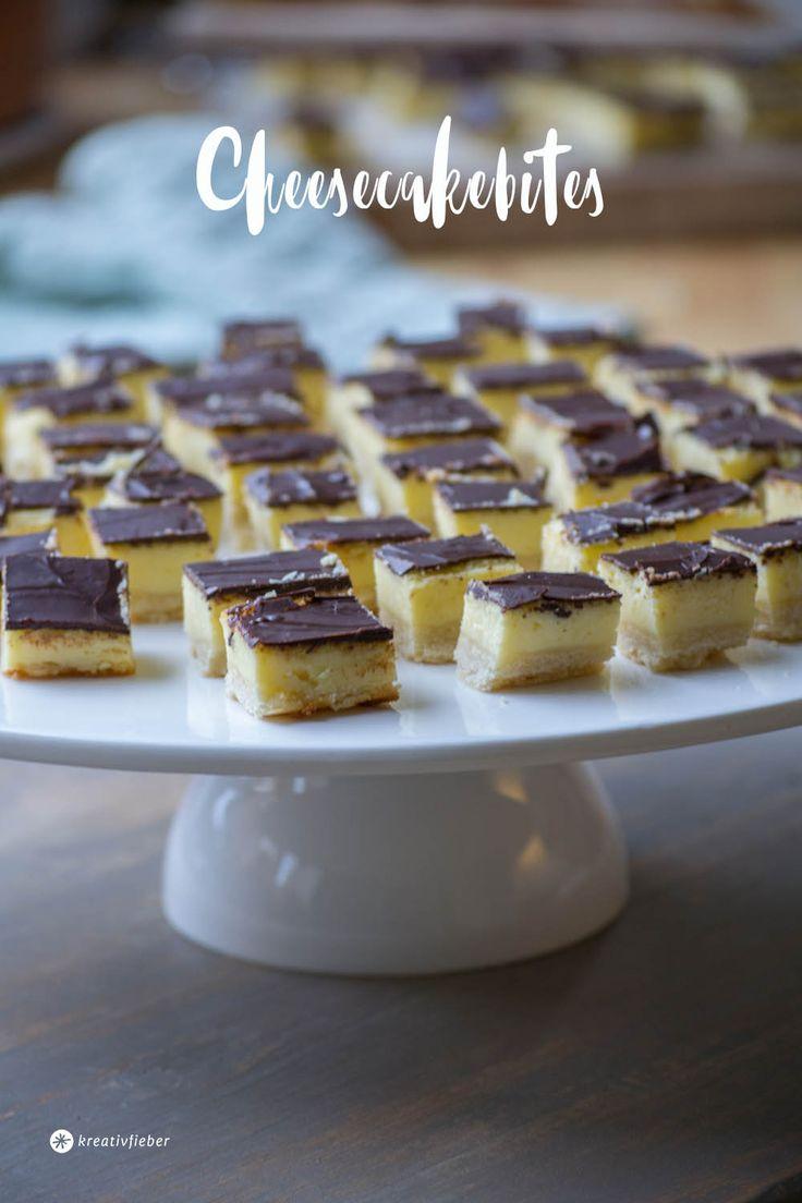 Diese Cheesecakebites sind garantiert ein Partykracher die jedem Gast schmecken. Ihr könnt sie auch perfekt am Vortag vorbereiten.