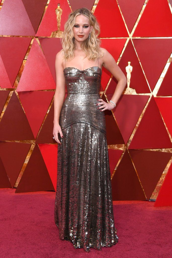 Jennifer Lawrence In Christian Dior – 2018 Oscars