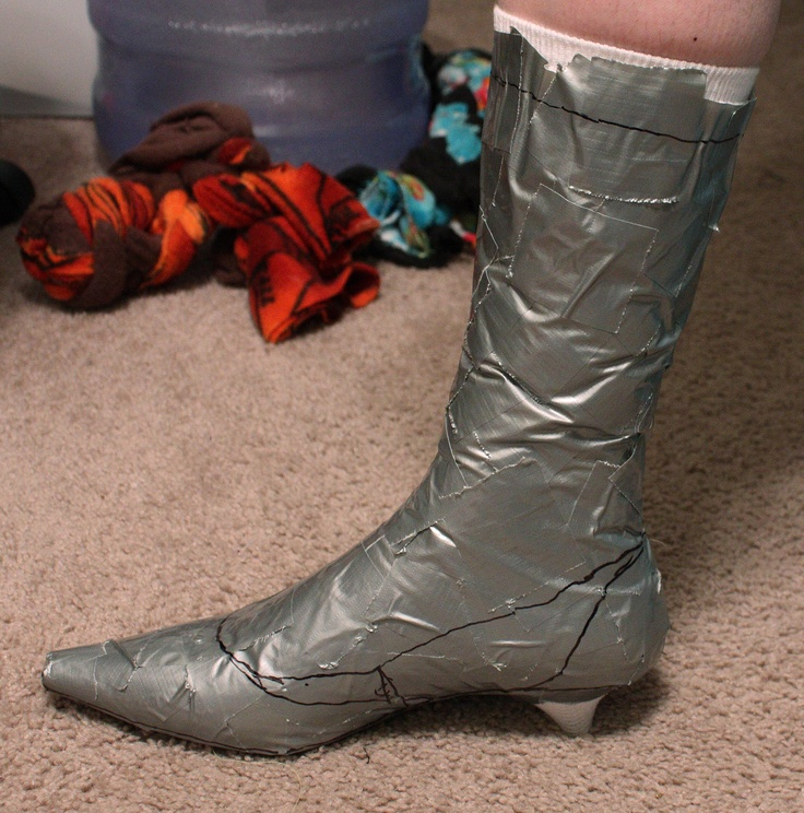 Shoe-Boot-Spats Pictorial /@Katie Noblitt something else you can do with duct tape