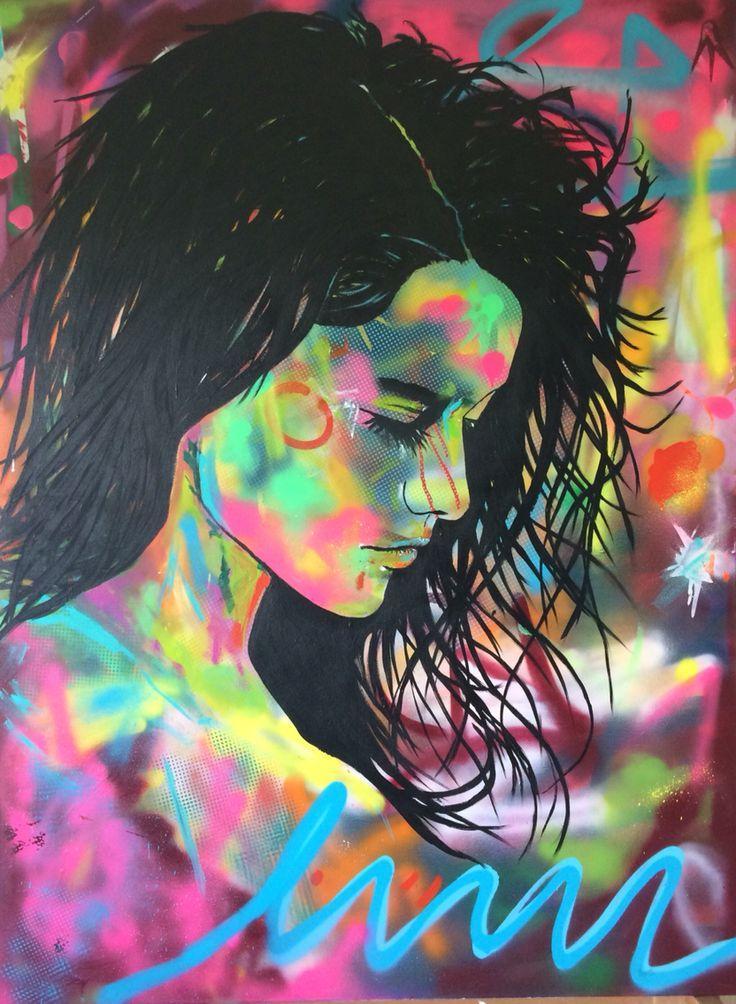Lucia 2, by Ronald Hofman, acrylic on canvas 120x90 cm