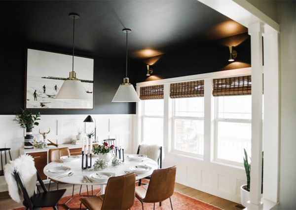 simple home dining rooms. 10 Simple Home Decoration Ideas With Black Paint (UPCYCLIST). Dining Room Rooms