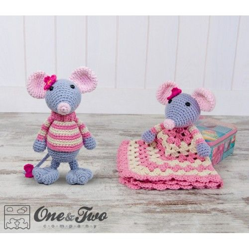 Emily the Mouse Lovey and Amigurumi Crochet Patterns by One and Two Company