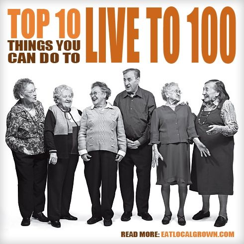 Want to live to be 100? This may help- Researchers studied a group of centenarians (people that live to 100 years old) and found these common factors...