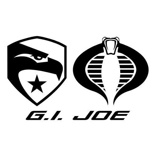 GI Joe vs. Cobra logos