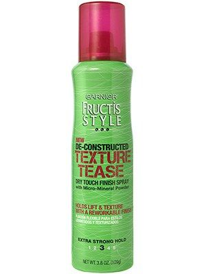 This Best of Beauty–winning texturizing spray from Garnier Fructis gives a tousled, full appearance to buns, braids, and ponytails.