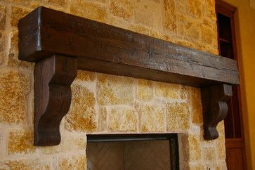 Mantles - mediterranean - fireplaces - dallas - Green Valley Beam & Truss Co.