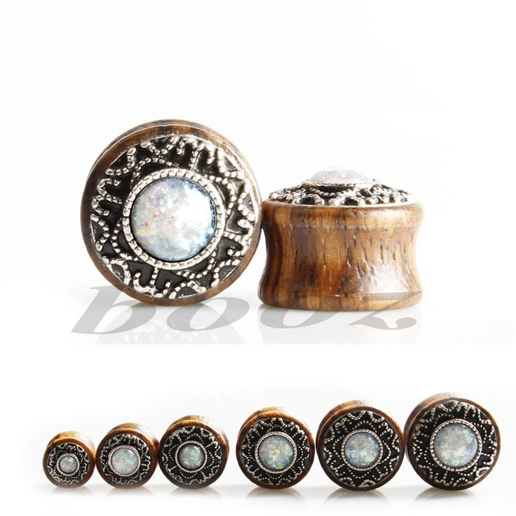new design for tunnel free wood ear gauges metal logo plugs piercing tunnel body jewelry 10-20mm black expanders