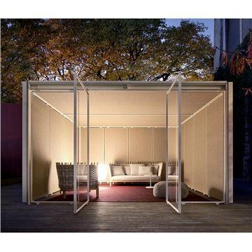 Paola Lenti Modular Cabana - Quadro - Style # CA01Axx, Modern Cabana - Contemporary Pavilion - Modern Outdoor Structures | SwitchModern.com