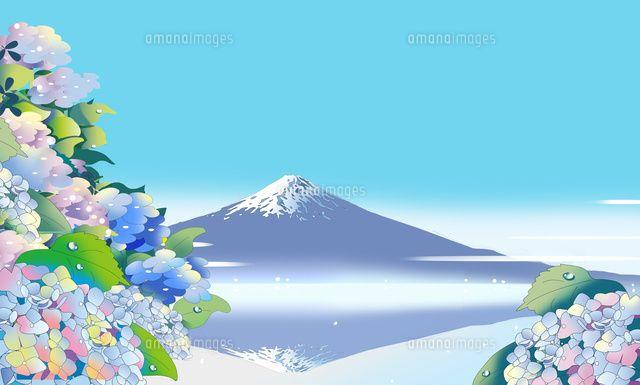 逆さ富士と紫陽花 (c)KAWANO Ryuji
