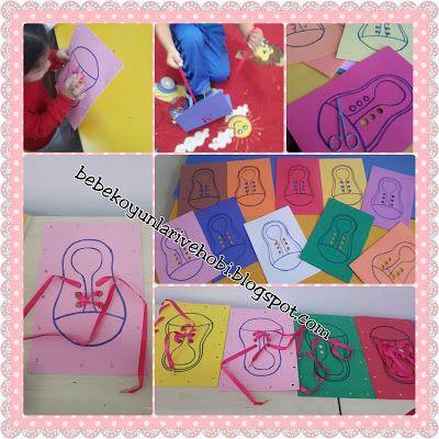 Elifce Bebek Oyunları ve Hobi: Bağcik bağlama etkinliği( okul öncesi 3 yaş etkinl...