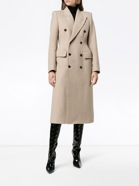 Balenciaga Hourglass double breasted coat