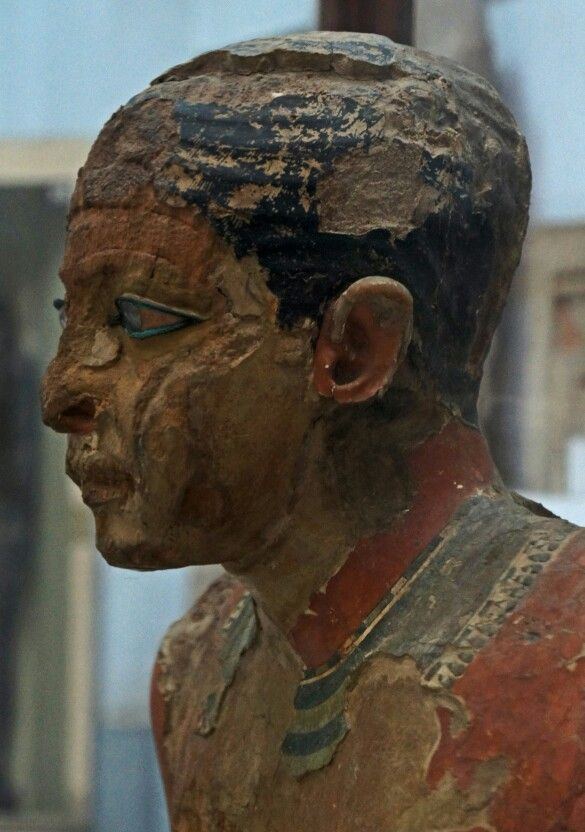 The face of the scribe Mitri, 2500 BC. Egyptian Museum, Cairo - Egypt.