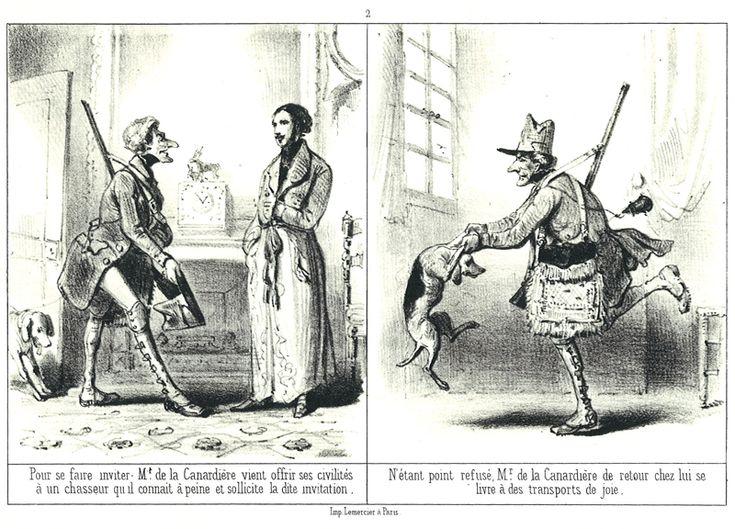 """H. Emy, """"Mr. de la Canardière ou Les infortunes d'un chasseur par un veneur ami du héros"""", Journal des chasseurs, 1846.   Voir : http://www.topfferiana.fr/2013/10/le-mirliton-merveilleux-par-jules-rostaing-et-telory/#footnote_6_9427"""
