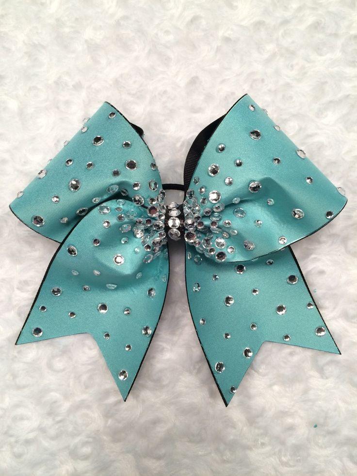 Diamond Bling glitzy rhinestone 3 inch aqua tiffany blue teal cheer cheerleader bow by 2girls2Tus on Etsy https://www.etsy.com/listing/186575273/diamond-bling-glitzy-rhinestone-3-inch