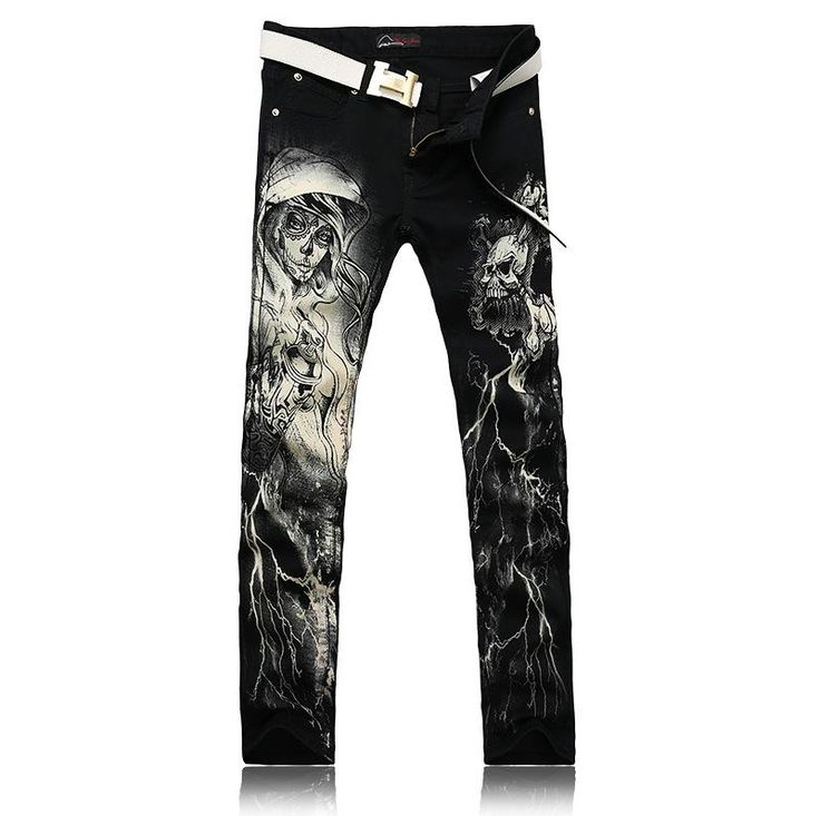 Men Painted Jeans Men's Clothing 2017 New Foreign Painting Printing Jeans  now on Polizis. #