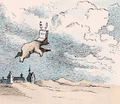 """Maurice Sendak illustrations """"I'm going to fly to the moon"""" said Little Bear."""