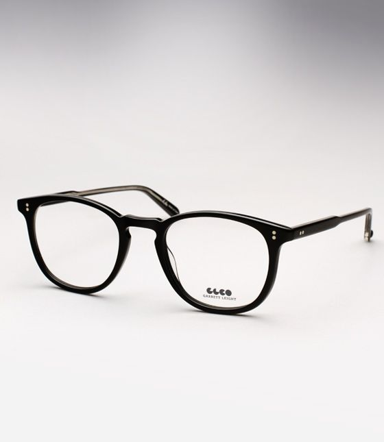Gorgeous black Garrett Leight Kinney eyeglasses. Definitely timeless. $260.