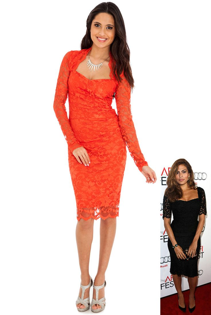 LACE DRESS WITH SWEET-HEART NECKLINE IN THE STYLE OF NICOLE SCHERZINGER #nicolescherzinger #celebrity #wholesaleclothing #lacedress #goingoutdress #partydress #eveningdress