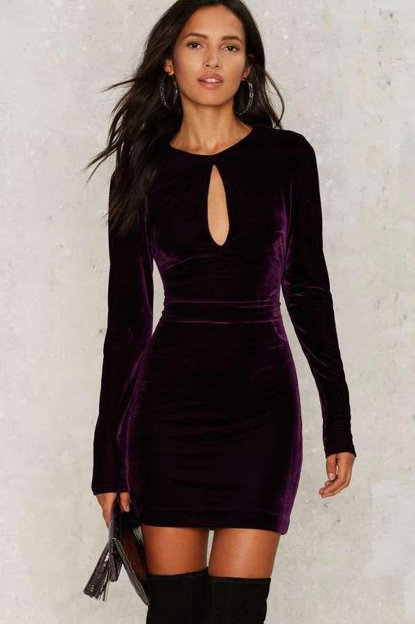 http://bit.ly/2hWBjmH #ootd #dress #ootdmagazine Nasty Gal Key the Change Velvet Dress