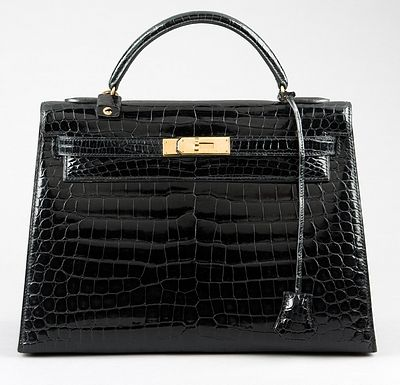 Hermès black crocodile bag