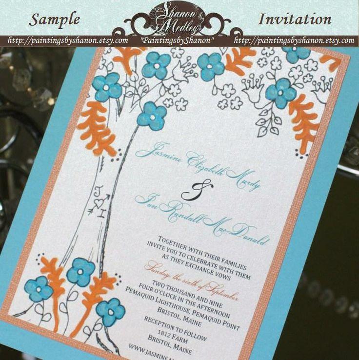 avery address labels wedding invitations%0A Jasmine and Ian  Blue and Orange Tree    Orange TreesWedding InvitationsBlue