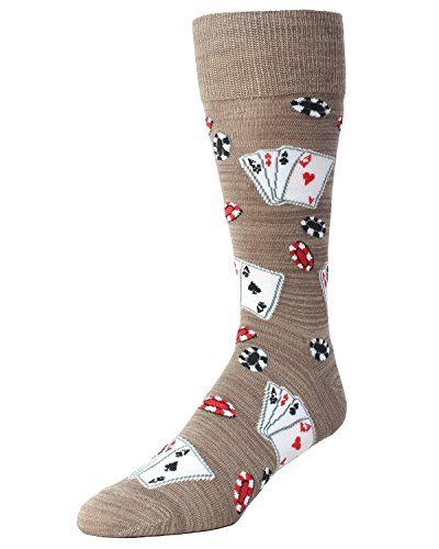 nice MeMoi Poker Face Playing Card Socks Crockery One Size 10-13