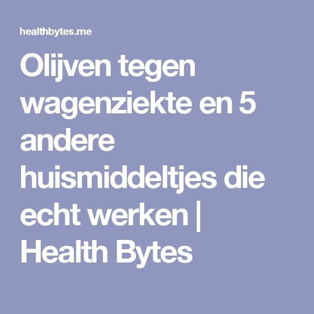 Olijven tegen wagenziekte en 5 andere huismiddeltjes die echt werken | Health Bytes