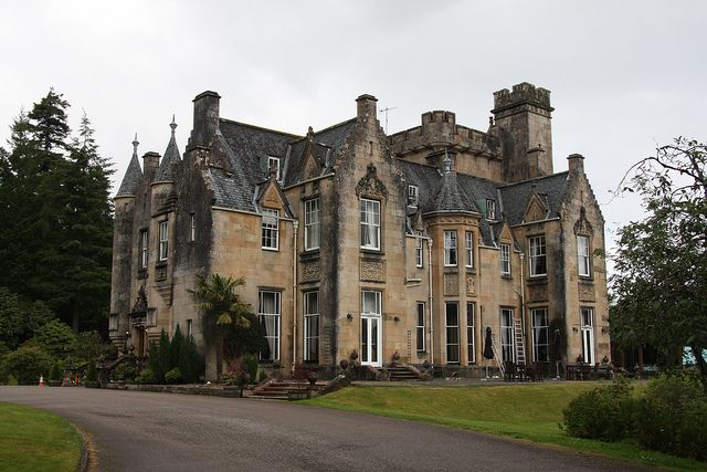 Stonefield Castle hotel, Tarbert  (also known as Barmore House). A Scottish baronial manor house near the village of Stonefield, north of Tarbert. Built in 1837 and designed by architects William Henry Playfair and William Notman.