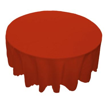 Round Red Table Linens
