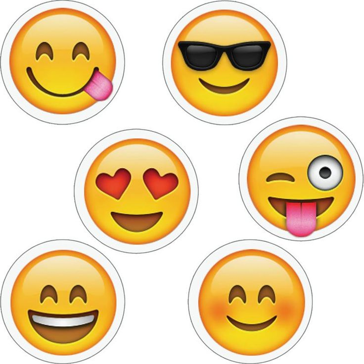 Emojis hot spot stickers emoji cupcake toppers emoji