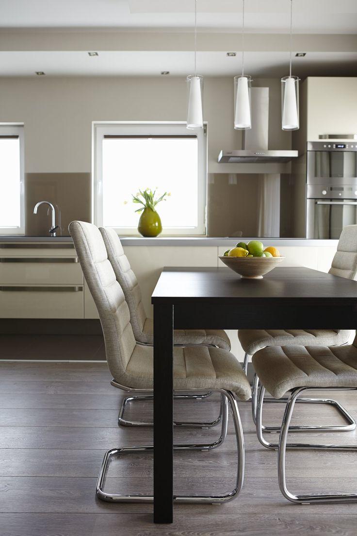 étkező - 90 nm-es kertvárosi ház - egy modern, letisztult, meleg otthon színtere