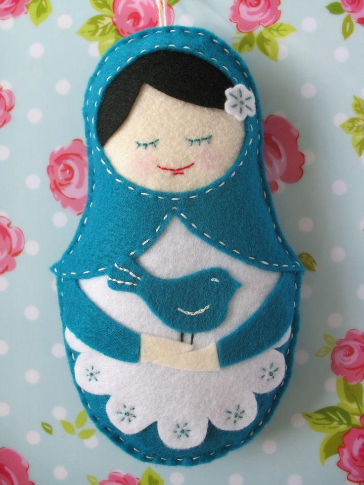 Felt Matryoshka doll