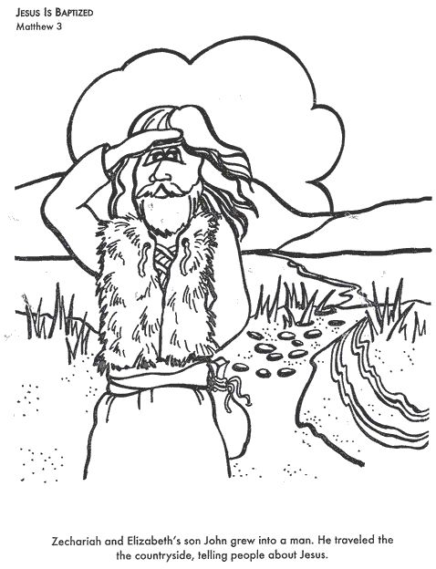 70 best images about sunday school john the baptist on for John the baptist coloring pages printable