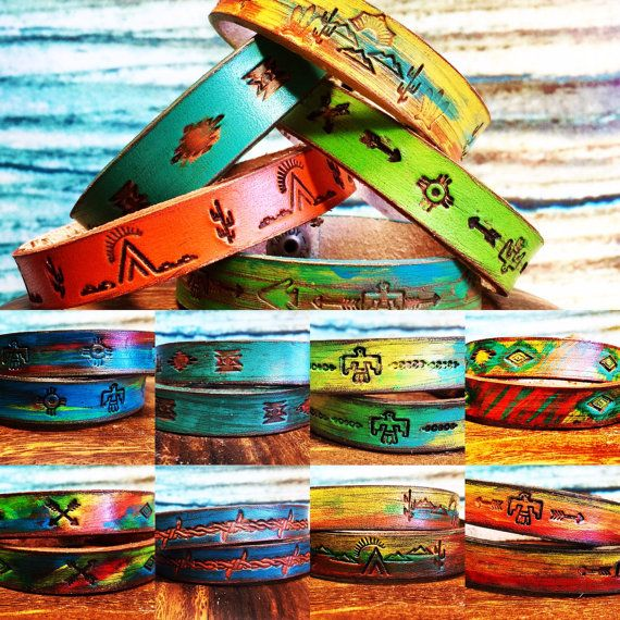 Leather bracelet by ArteVae on Etsy                                                                                                                                                     More