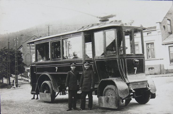 """""""Trikken"""" i Drammen, tatt i bruk i 1909"""