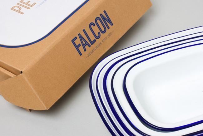 vajilla de peltre de Falcon Enamelware