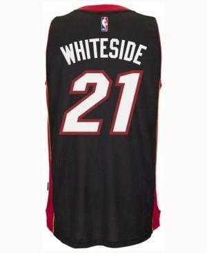 adidas Kids' Hassan Whiteside Miami Heat Swingman Jersey - Black XL